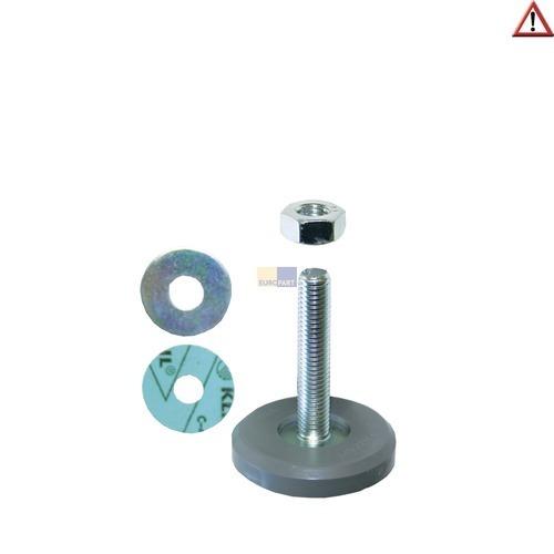 Klick zeigt Details von Gerätefuß Waschmaschine Geschirrspüler 0233801 0304593 Miele 46mm Gewindelänge