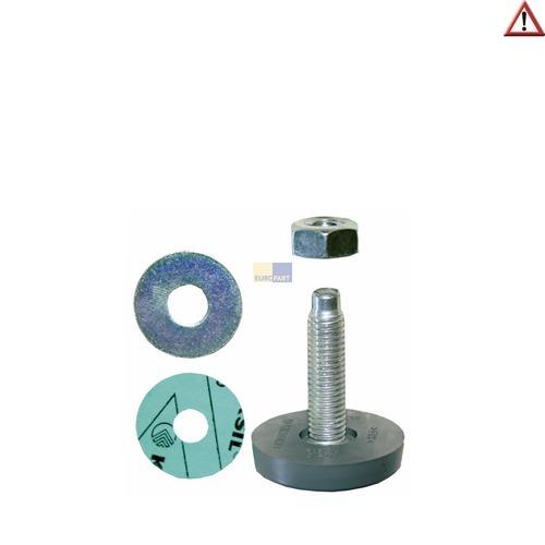 Klick zeigt Details von Gerätefuß Waschmaschiene Trockner Geschirrspüler0304593 Miele 34mm Gewindelänge
