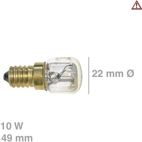 Klick zeigt Details von Lampe TR. 10W 230V, E14  300°