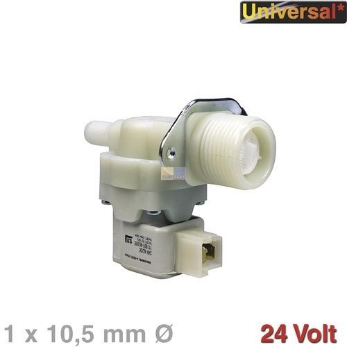 Klick zeigt Details von Magnetventil 1-fach 180° 10,5mmØ Universal! Für Waschmaschinen Spülmaschine