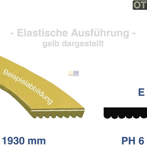 Klick zeigt Details von Keilrippenriemen 1930 PH 6 E Beko 2951240100 Original
