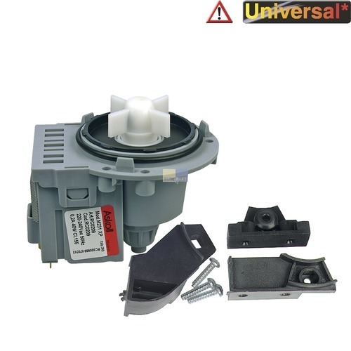 Klick zeigt Details von Ablaufpumpe Solo Pumpenmotor Schraubenbefestigung, mit 3 Bügeln, Universal!