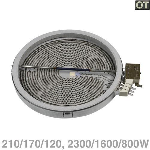 AEG/Electrolux Strahlheizkörper 210/170/120mmØ 2300/1600/800W 230V, OT! 3051747222