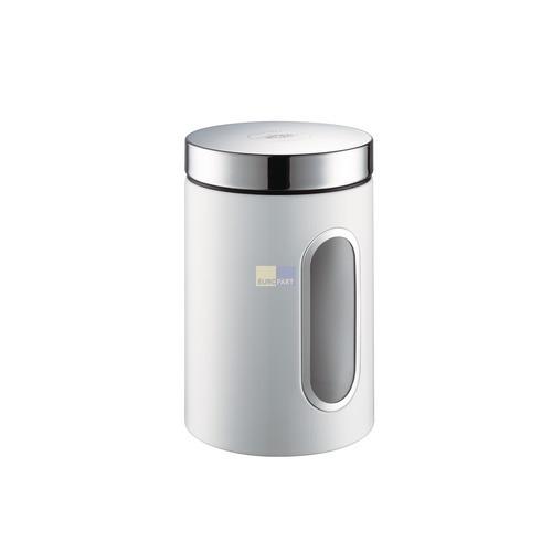 Klick zeigt Details von Aufbewahrungsbehälter ClassicLine mit ovalem Sichtfenster, Farbe weiß