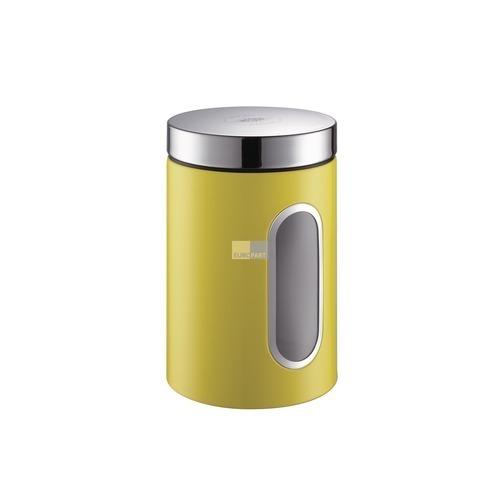 Klick zeigt Details von Aufbewahrungsbehälter ClassicLine mit ovalem Sichtfenster, Farbe lemonyellow