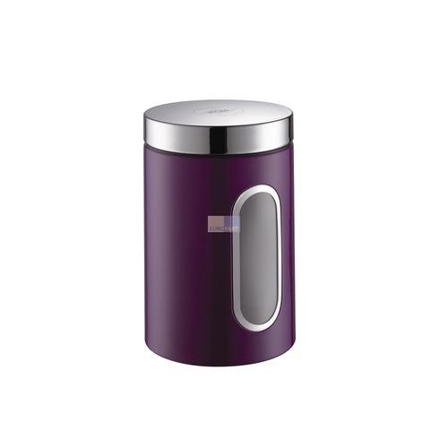 Klick zeigt Details von Aufbewahrungsbehälter ClassicLine mit ovalem Sichtfenster, Farbe brombeer