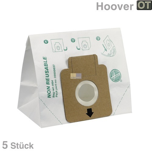 Klick zeigt Details von Filterbeutel Staubsauger Filter Hoover H64 Flash Freespace Sprint 35600637
