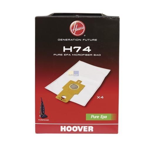 Klick zeigt Details von Filterbeutel HOOVER 35601661 H74 PureEpa Original für Staubsauger 4Stk