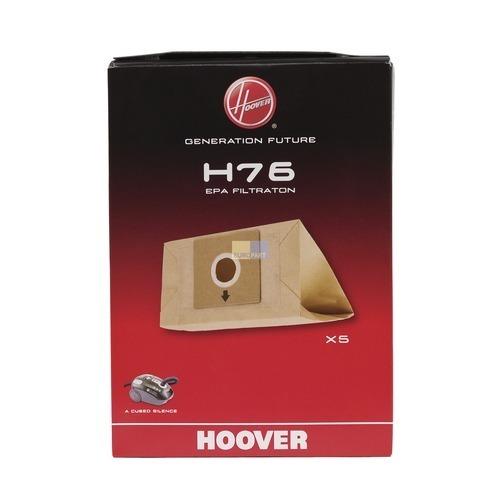 Klick zeigt Details von Filterbeutel HOOVER 35601668 H76 PureEpa Original für Staubsauger 5Stk