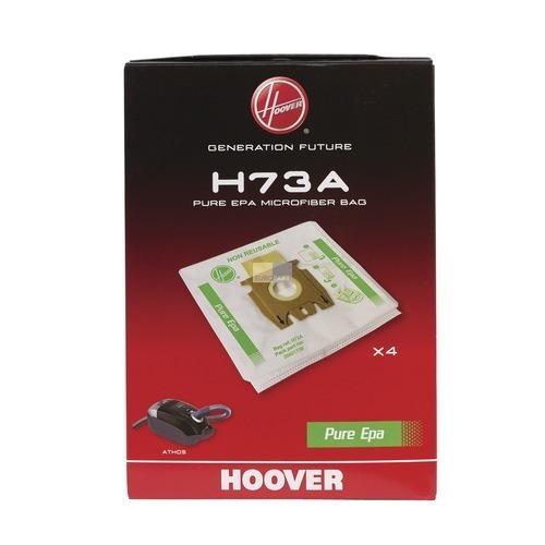 Klick zeigt Details von Filterbeutel HOOVER 35601738 H73A PureEpa Original für Staubsauger 4Stk