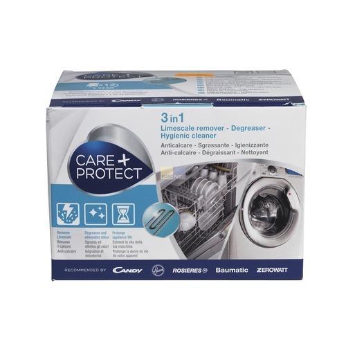 Klick zeigt Details von Maschinen-Reiniger Hoover 35601768 CDP1012 Care+Protect für Waschmaschine Geschirrspüler 12x50g