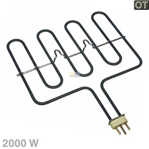Klick zeigt Details von Grill-Heizelement 2000W 230V