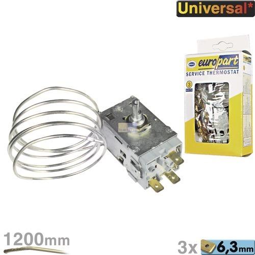 Klick zeigt Details von Thermostat K59-L1102 Ranco Europart Nr.3 1135mm Kapillarrohr 3x6,3mm AMP