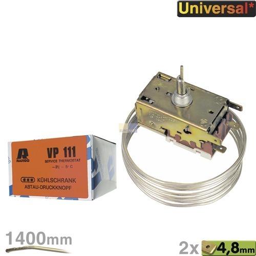 Klick zeigt Details von Thermostat K60-L2025 Ranco VP111 1400mm Kapillarrohr 2x4,8mm AMP