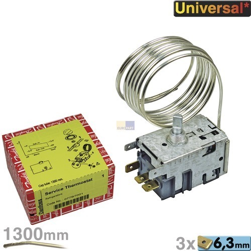 Klick zeigt Details von Thermostat Kühlschrank Kühlgerät 077B7001 Nr1 Danfoss Universell
