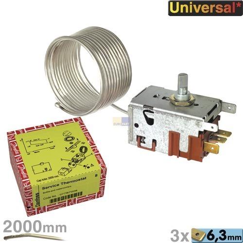 Klick zeigt Details von Thermostat Flaschenkühlschrank 077B7008 Danfoss Universell