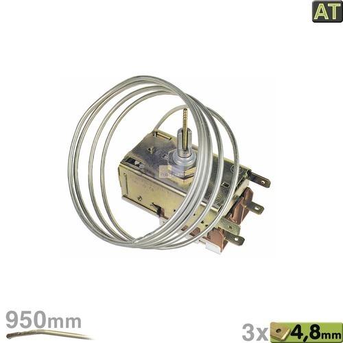 Klick zeigt Details von Thermostat K60-L2068 Ranco 950mm Kapillarrohr 2x4,8mm AMP