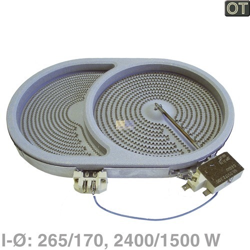 Strahlheizkörper 265x170mm oval AEG/Electrolux 374063926