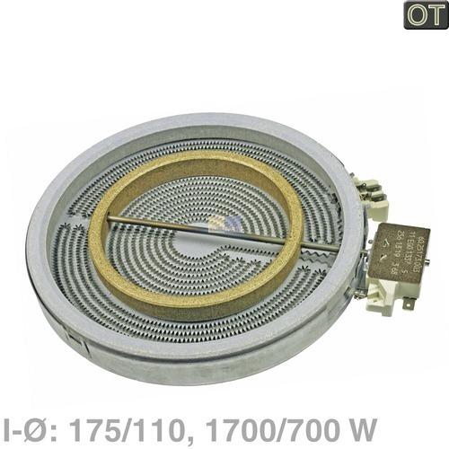 AEG/Electrolux Strahlheizkörper 175/110mmØ 1700/700W 230V 374075421