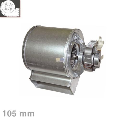 Klick zeigt Details von Querstromlüfter 105mm TypA Motor rechts