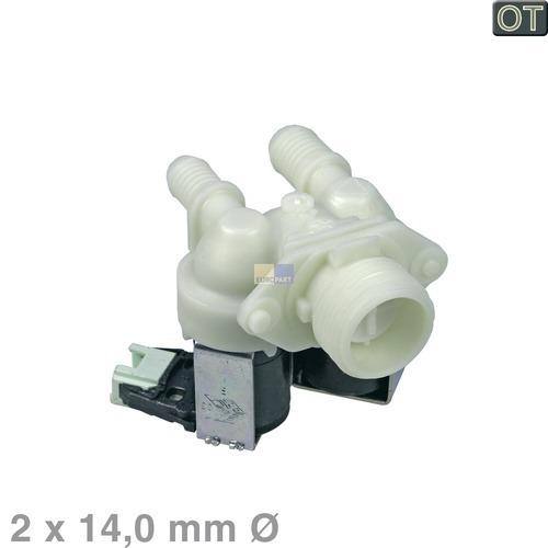 Klick zeigt Details von Magnetventil 2-fach 180° 14mmØ, OT!
