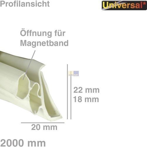 Klick zeigt Details von Türdichtung 1-seitig 2m, Universal!