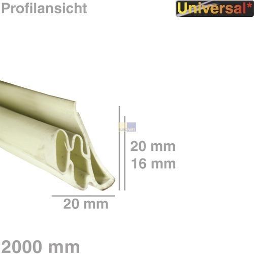 Klick zeigt Details von Türdichtung 1-seitig universal, 2M PVC