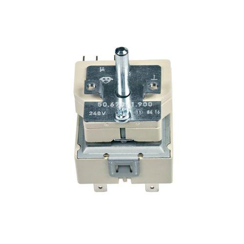 Klick zeigt Details von Kochplattenschalter EGO 50.67071.900 Dreikreis Electrolux 389076523/7 Original