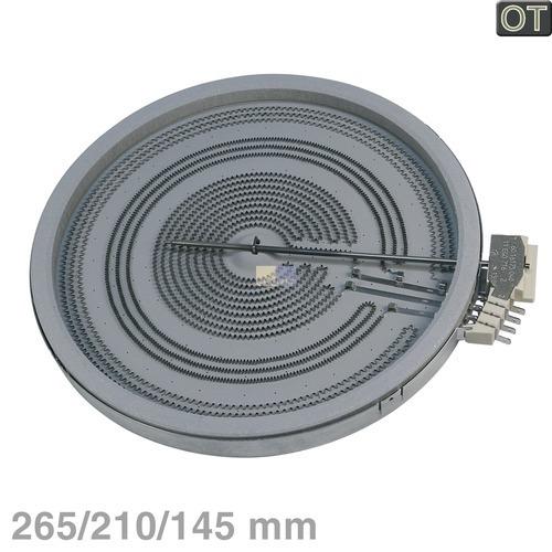 AEG/Electrolux Strahlheizkörper 265/210/145mmØ 2700/1950/1050W 230V, OT! 3890807229