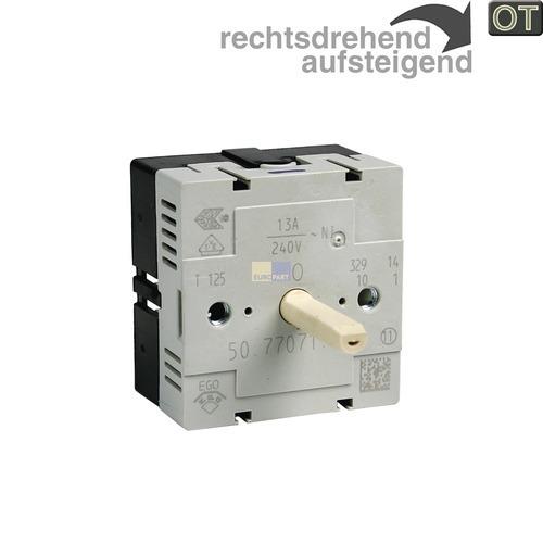 Klick zeigt Details von Kochplattenschalter EGO 50.77071.000  Einkreis, AEG 389082401