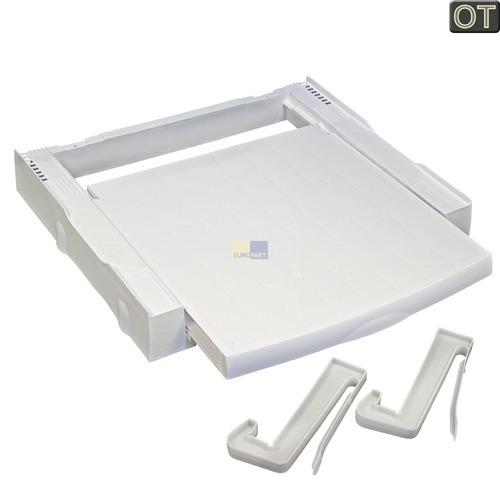 Klick zeigt Details von Zwischenbaurahmen mit Arbeitsplatte AEG/Electrolux 405501520/2 NSKITSTD1 für Waschmaschine Trockner