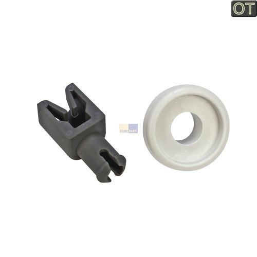 Klick zeigt Details von 1 Korbrolle links für Oberkorb AEG Electrolux 405503972 Rolle für Spülmaschine