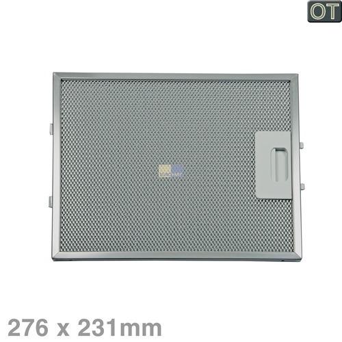 Klick zeigt Details von Fettfilter eckig Metall 276x231mm