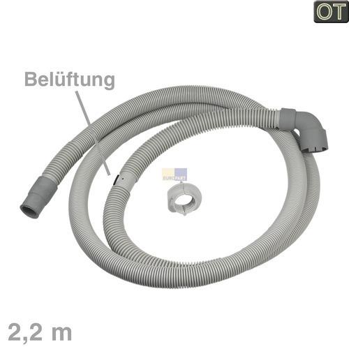 Klick zeigt Details von Ablaufschlauch Winkel/gerade 30/20mmØ 2,2m mit Belüftung, OT!