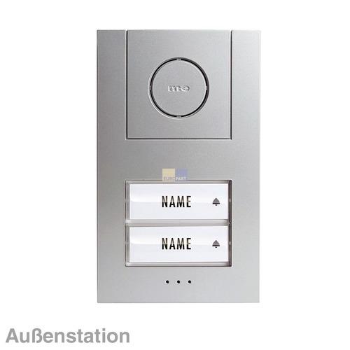 Klick zeigt Details von Türsprechanlage Audio-Außenstation, zwei Klingeltasten