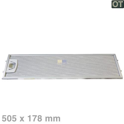 Klick zeigt Details von Fettfilter eckig Metall 505x178mm