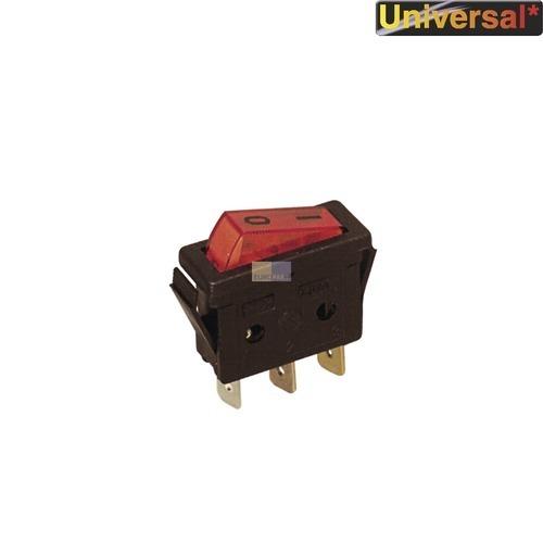 Klick zeigt Details von 1-Pol. Wippschalter bel. rot, 11x30mm