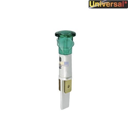 Klick zeigt Details von Kontrolllampe grün, rund/rund