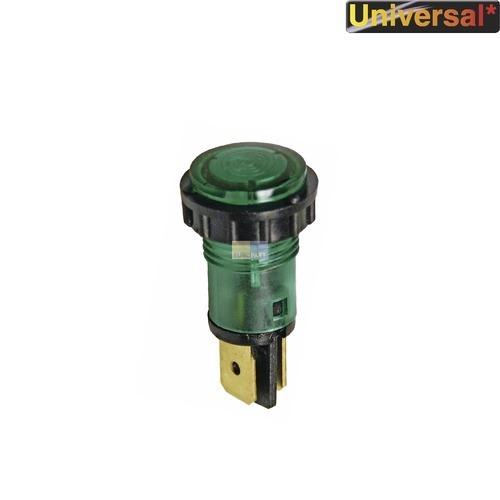 Klick zeigt Details von Kontrolllampe grün, rund