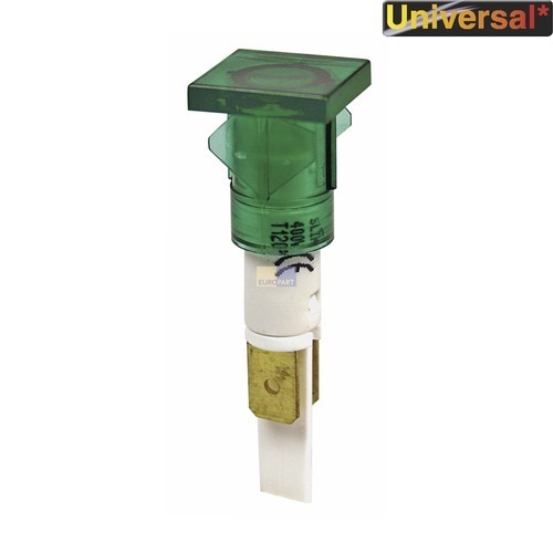 Klick zeigt Details von Kontrolllampe grün, eckig / rund