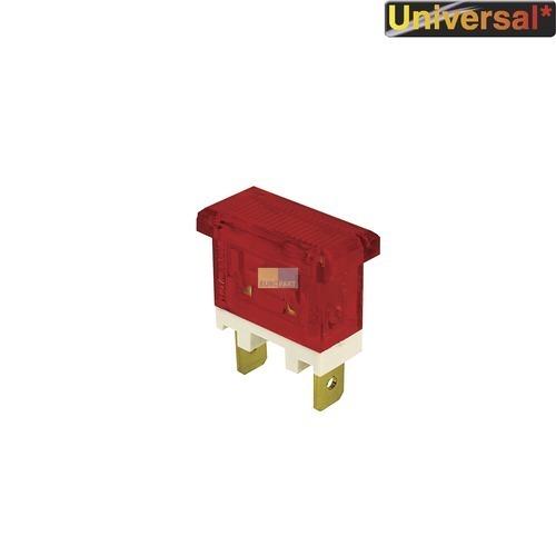 Klick zeigt Details von Kontrolllampe Kontroll Lampe rot, rechteckig