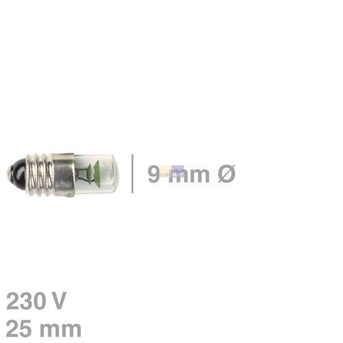 Klick zeigt Details von Glimmlampe E10, 230V