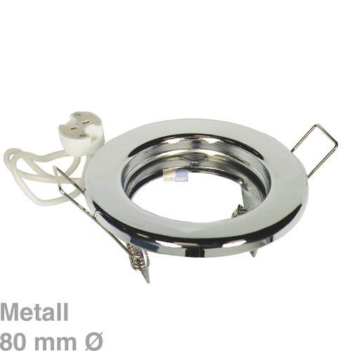 Klick zeigt Details von Lampenhalter Rund Chrom, Metall