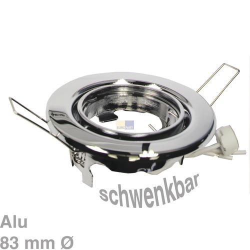 Klick zeigt Details von Lampenhalter Rund Chrom, Alu