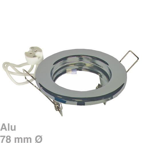 Klick zeigt Details von Lampenhalter Rund Chrom matt, Alu