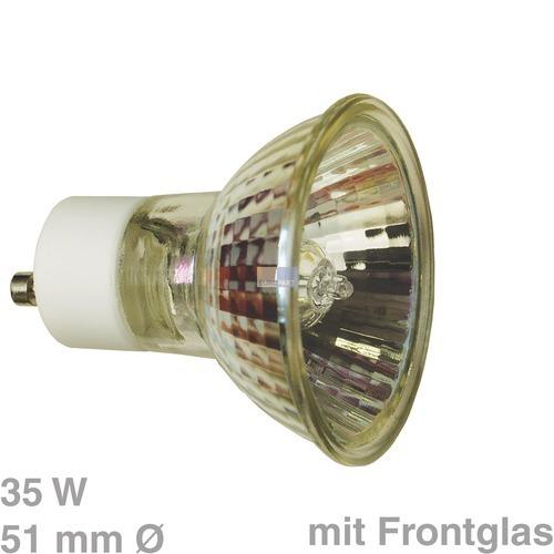 Klick zeigt Details von Lampe,HalogenHV-GZ10 (51mmØ) rund