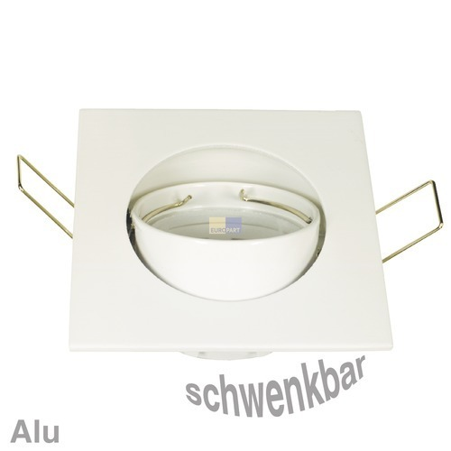 Klick zeigt Details von Lampenhalter 4-eckig Weiß, Alu