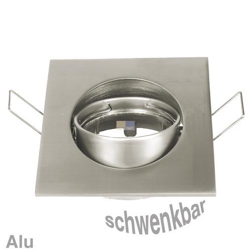 Klick zeigt Details von Lampenhalter 4-eckig Chrom matt, Alu