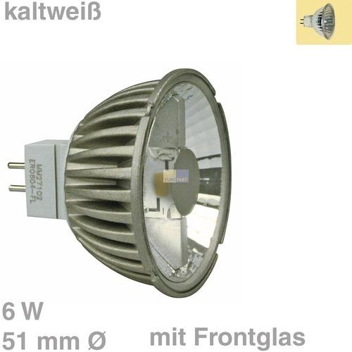 Klick zeigt Details von LED-Lampe GU5,3 / 51mmØ 6W kaltweiß