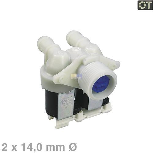 Klick zeigt Details von Magnetventil 2-fach 180° 14,0mmØ, OT!